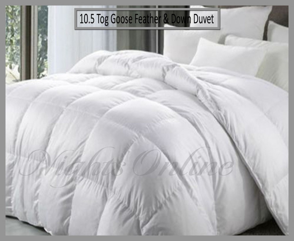8969a5e5380 New Hotel Quality Goose Feather & Down Duvet, 10.5 Tog Quilt All Sizes  Available