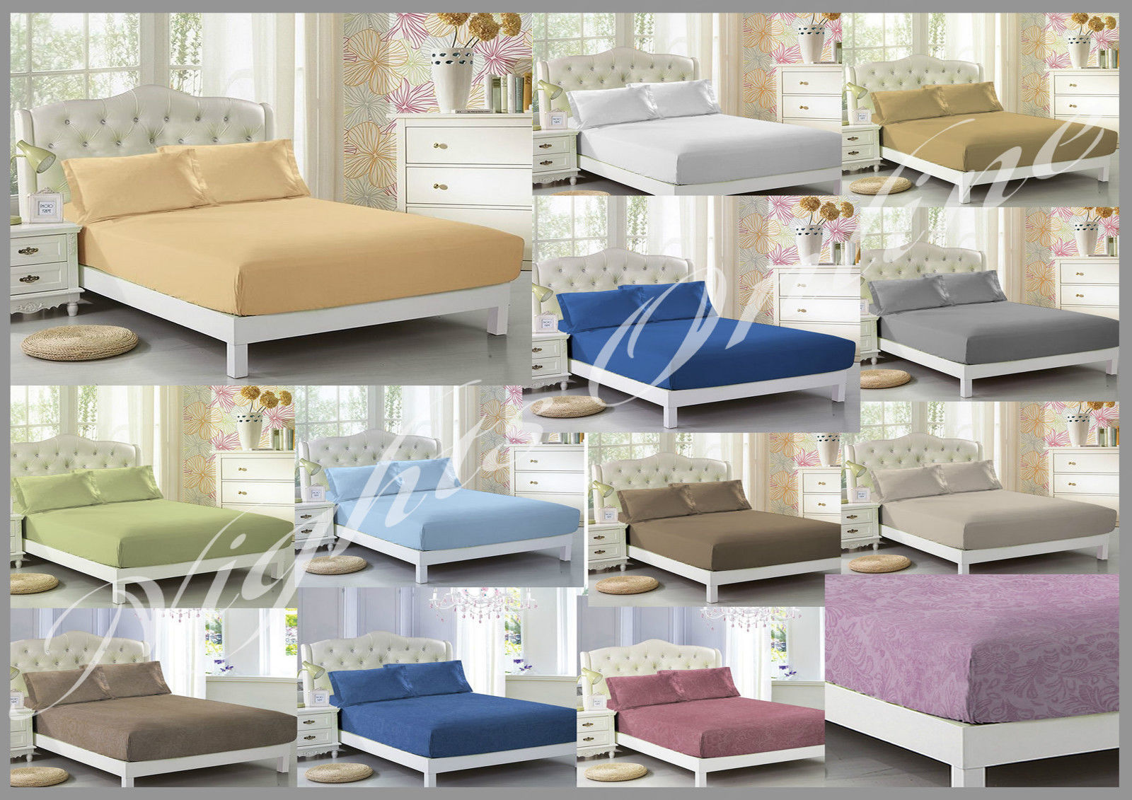 Luxury Fitted Bed Sheets, Top Quality Fitted Sheets All Colours U0026 All Sizes  U2013 NIGHTSONLINE